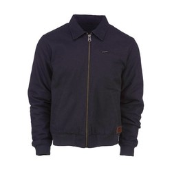 canvas zip-up jas zwart