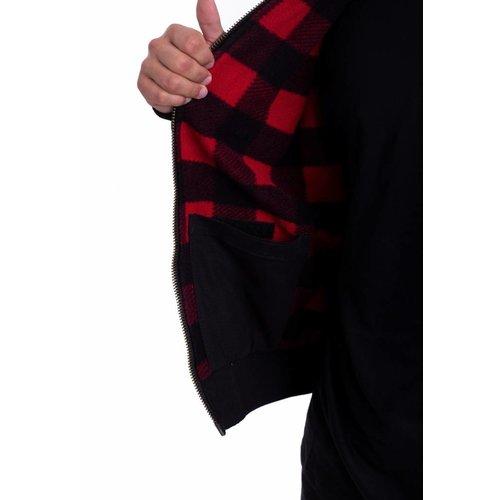 Dickies canvas zip-up jas zwart