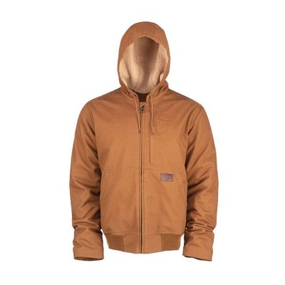 Dickies Brown Farnham canvas jacket zip-up