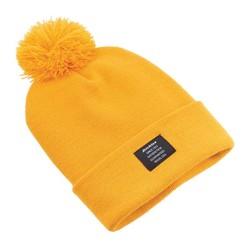 "Bonnet ""Edgeworth Bobble"" jaune moutarde"
