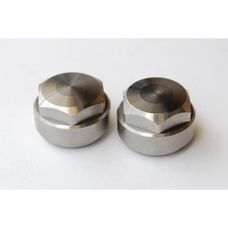 "BMW Fork Tube Nut - ""Original"" Set 38.5 mm - Stainless Steel"