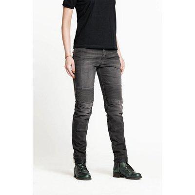 Pando Moto Pantalon gris uni pour femme