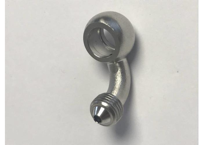 Edelstahl-Banjos für schwarze Bremsleitungen (ausgewählte Größe)