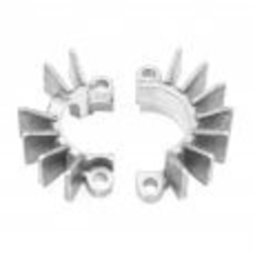 Motone Finned Exhaust Clamps - LC - Raw Finish