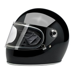 Gringo S Helmet Gloss Black ECE Approved