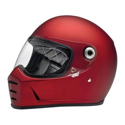 Lane Splitter helm Flat Red ECE goedgekeurd