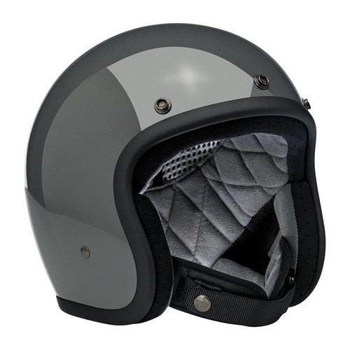 Biltwell Bonanza 3/4 Open Face Helmet Gloss Storm Grey