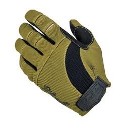 Moto Gloves Olive/Black/Tan