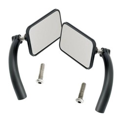 Rechthoek Utility Mirror Set Perch Mount Black