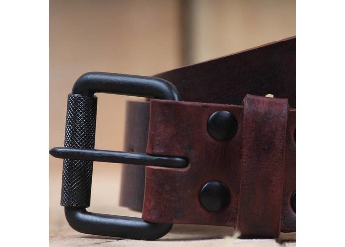 Trip Machine Belt - Cherry Red Single Pin