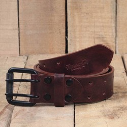 Belt - Cherry Red Double Pin