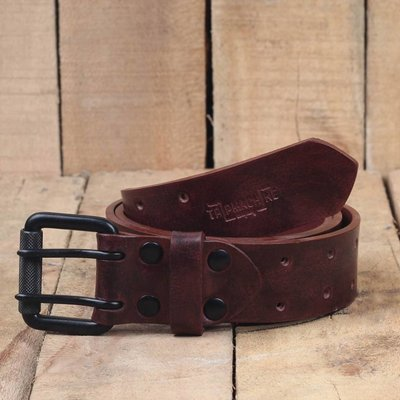 Trip Machine Belt - Cherry Red Double Pin
