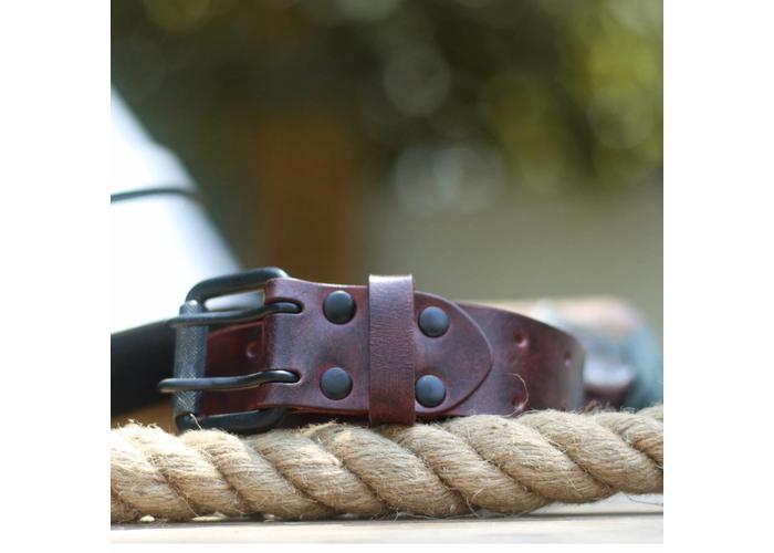 Trip Machine Belt - Cherry Red Double Pin
