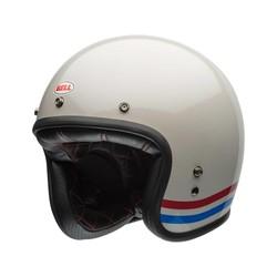 Custom 500 Helmet Solid Stripes Pearl White