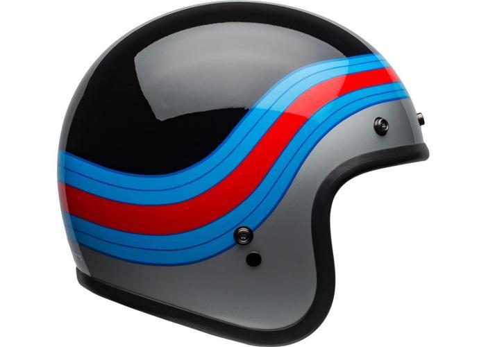 Bell BELL Custom 500 DLX Helm Pulse Gloss Schwarz / Blau / Rot