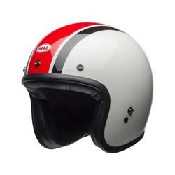 Custom 500 Helm Ace Café Stadium Glanz Silber / Rot / Schwarz