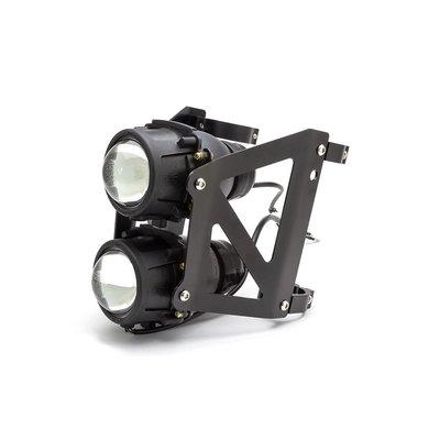 Twin Projector Headlight Kit 55mm Fork