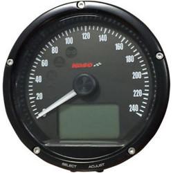 D75 Tachometer Black dial and surface (range 0-240 km/h)