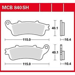 Plaquettes de frein MCB840SH arrière frittées