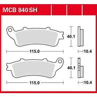 TRW Plaquettes de frein MCB840 arrière fritté
