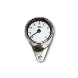 8.000 RPM Cafe Racer Tachometer Chrome