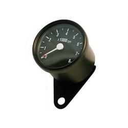 8.000 RPM Cafe Racer Tachometer Black