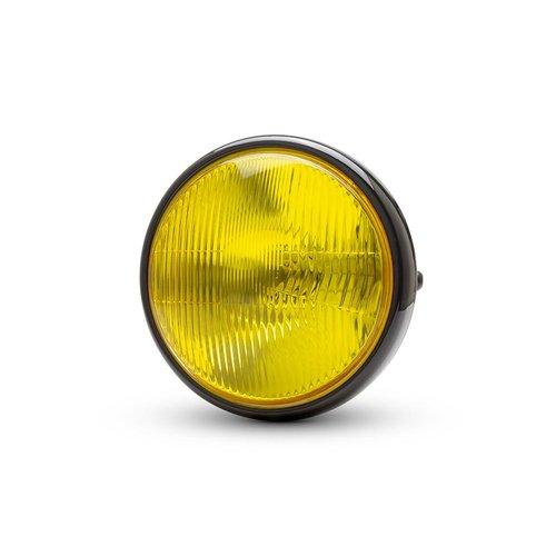 "7.7 ""Classic Gloss Black Scheinwerfer - Gelbe Linse"