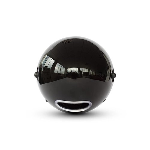 "7  ""Classic Gloss Black Headlight - Yellow Lens"