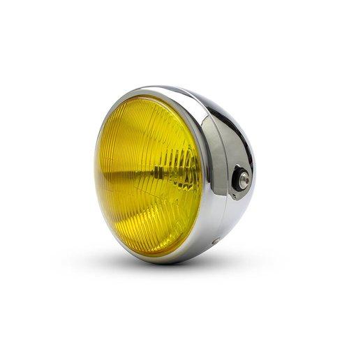 """7.7 """"Klassieke Chrome-Scheinwerfer - gele lens"""
