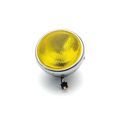 """7  """"Klassieke Chrome-Scheinwerfer - gele lens"""