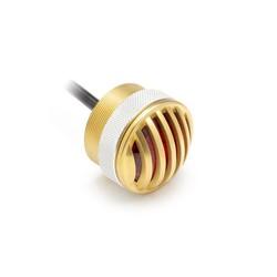 "1.65"" Solid Brass Flush Mount Prison Grid LED Stop / Taillight"