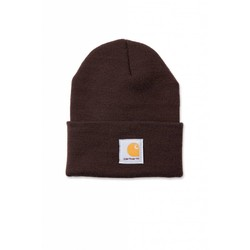 Acrylic Watch Beanie DARK BROWN