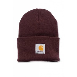 Acrylic Watch Beanie DEEP WINE