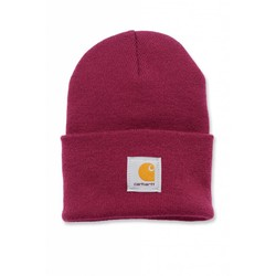 Acrylic Watch Beanie RASPBERRY