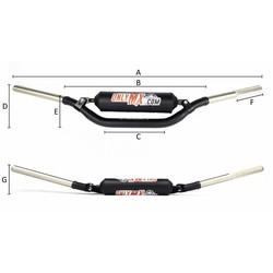 """Aluminium Twinbar """"OnlyMX"""" Zwart"""