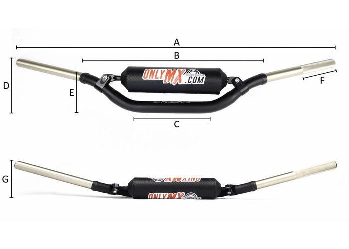 "MCU Aluminium Twinbar ""OnlyMX"" Schwarz"