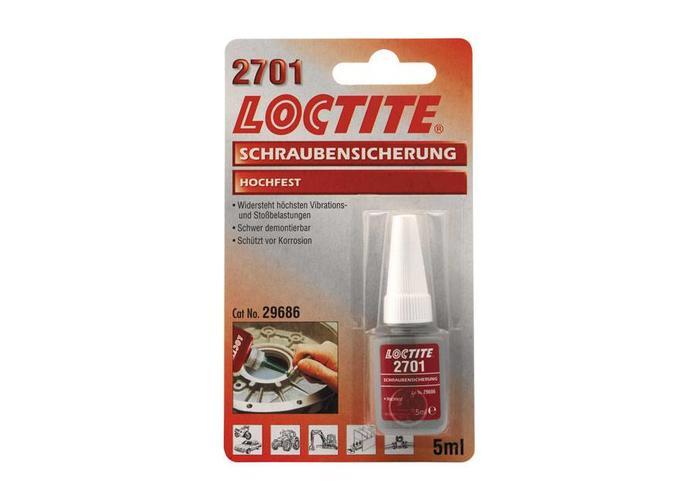 Loctite 2701 ROT, THREADLOCKER 5CC