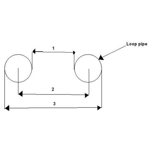 20,3 mm Upswept (20 Grad) Hoop Short OD: 180MM