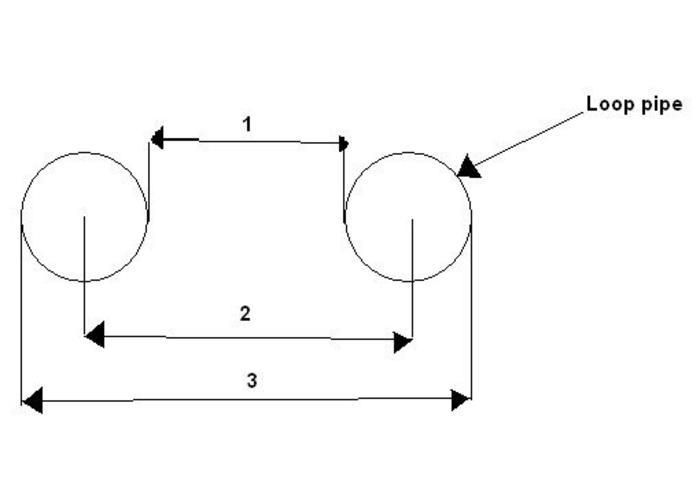 20,3 mm Upswept (20 Grad) Hoop Short OD: 210MM