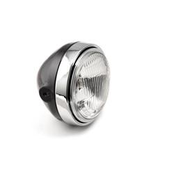 Scrambler Head Light, schwarz / chrom