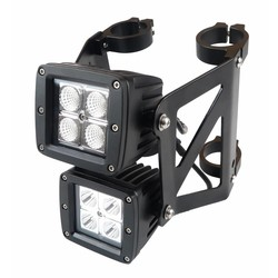 Double stacked Square Streetfighter LED headlight set