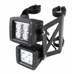 Dubbel gestapelde Square Streetfighter LED-koplampenset