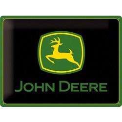 John Deere 40x30 Plaque en étain