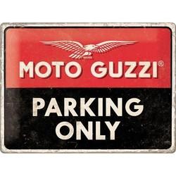 Moto Guzzi Parking 40x30 Tin Sign