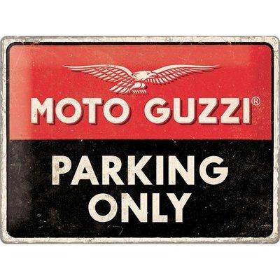 Moto Guzzi Parking 40x30 Plaque en étain