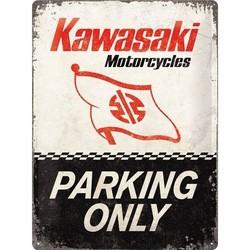KAWASAKI PARKING 40X30 Plaque en étain