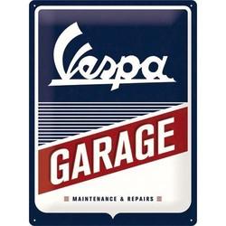 Vespa Garage 40X30 Plaque en étain