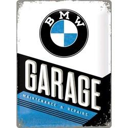 BMW Garage 40X30 Plaque en étain