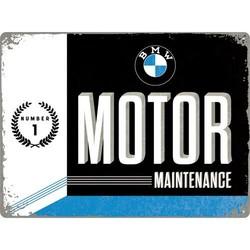 BMW maintenance 30x40cm Plaque en étain