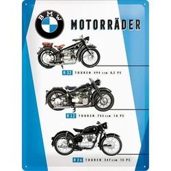BMW Motorrader Chart 30x40cm Blechschild